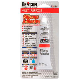 Devcon® Premium Silicone Adhesive (S-1), 12045, 1.76 Oz. Tube