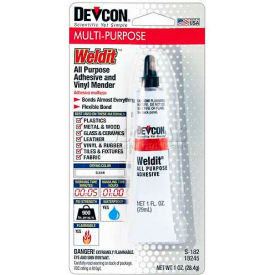 Devcon® Weldit™ Cement All-Purpose Adhesive, 18245, 1 Oz. Tube