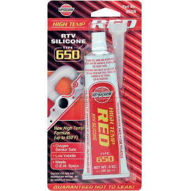 VersaChem® Hi-Temp Red RTV Silicone, 65309, 3 Oz. Tube