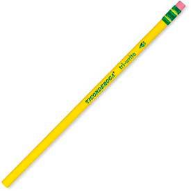 Dixon® Ticonderoga Tri-Write HB #2 Pencil With Latex-Free Eraser, Yellow, Dozen