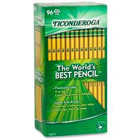 Dixon® Ticonderoga Woodcase HB #2 Pencil With Latex-Free Eraser, 96/Pack