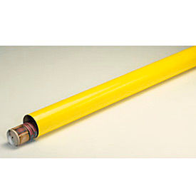 "Mailing Tube With Cap, 6""L x 2"" Diameter x 0.06 Wall Thickness, Yellow, 50 Pack"