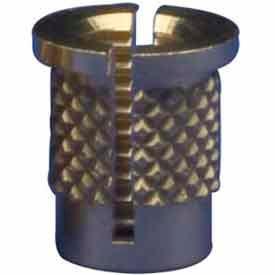 4-40 Reverse Slot Press Insert - Brass - 260-004-Rs - Pkg Qty 50