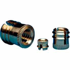 10-32 Triple-Fin Finsert - 370-332-Br - Made In USA - Pkg Qty 10