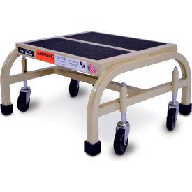 "EGA Steel Office Ladder 1-Step, 16"" Wide Vinyl Covered, Almond, 450 lb. Capacity - F001"