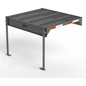 "EGA Steel Custom Work Platform, 36"" W x 39"" D, 1-Step, 27"" H, Gray, 500 lb. Cap. - CW0-27-0-3"