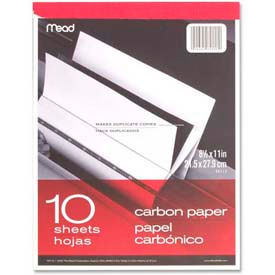 "Mead Carbon Paper Tablet, 8-1/2"" x 11"", Black, 10 Sheets/Pad by"