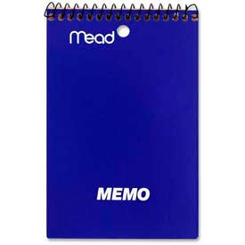 """Mead® Coil Memo Notebook, 4"""" x 6"""", College Ruled, Top Wirebound, White, 40 Sheets/Pad"""