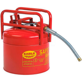 "Eagle D.O.T. Approved Transport Can with 7/8""Flexible Hose Type II Red 5 Gal., 1215"