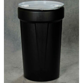 Eagle Blue Plastic Lab Pack Drum 1655MBBG with Metal Lever Lock & Bung Lid - 55 Gallon