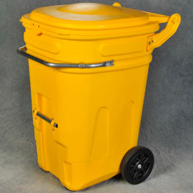 Eagle Wheeled Spill Kit E-Cart w/Lid, 65 Gallon Yellow - 1696Y