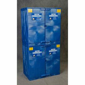 Eagle Poly Acid & Corrosive Cabinet with Manual Close - 44 Gallon