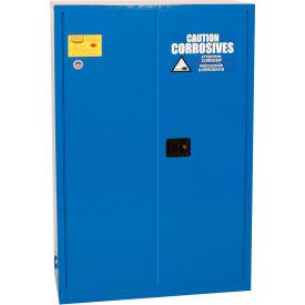 Eagle Poly Acid & Corrosive Cabinet CRA4510 with Self Close - 45 Gallon, Blue