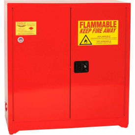 Eagle Paint/Ink Safety Cabinet PI3010 with Self Close - 40 Gallon, Red