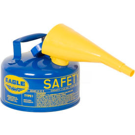 Eagle Type I Safety Can - 2 Gallon with Funnel - Blue, UI-20-FSB