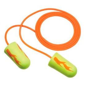 3M™ E-A-Rsoft™ Yellow Neon Blasts™ Foam Earplugs, Corded, 311-1252, 200 Pairs