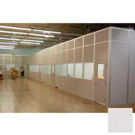 Ebtech Modular Inplant Office, Steel & Gypsum Sound, 8'W X 8'D, 3 Wall, Class A Fire Rating, Gray