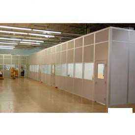 Ebtech Modular Inplant Office, Steel & Gypsum Sound, 12'W X 10'D, 4 Wall, Class A Fire Rating, White