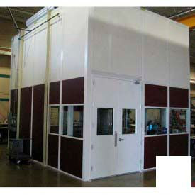 Ebtech Modular Inplant Office, Vinyl Clad Hardboard, 8'W X 12'D, 3 Wall, Class C Fire Rating, White