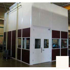 Ebtech Modular Inplant Office, Vinyl Clad Hardboard, 12'W X 24'D, 3 Wall, Class C Fire Rating, Tan