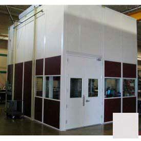 Ebtech Modular Inplant Office, Vinyl Clad Hardboard, 10'W X 12'D, 4 Wall, Class C Fire Rating, Gray