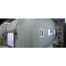 Ebtech Modular Cleanroom, 12'L X 8'W, 2 HEPA Units, 1 Light Fixture, 3 Outlets, ISO 7, Gray
