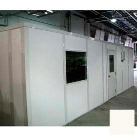 Ebtech Modular Inplant Office, Vinyl Clad Gypsum Sound, 12'x12', 3 Wall, Class A Fire Rating, Tan