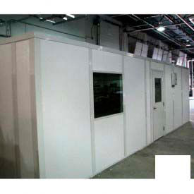 Ebtech Modular Inplant Office, Vinyl Clad Gypsum Sound, 12x20, 4 Wall, Class A Fire Rating, White