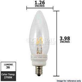 Ushio, 1003701, Candle U-LED Light Bulb, White, 0.6 Watt, 120 Volts