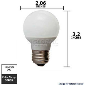 GE, 62992, LED Light Bulb, Globe, White, 1.8 Watt, 120 Volts