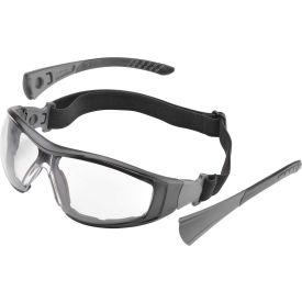 Elvex® Go-Specs II™ EVA FR Foam Lined Spectacle, Clear AF/PC Lens, Black Frame, 12/Pack