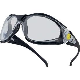 Elvex® Pacaya Foam Lined Safety Glasses, Clear A/F Lens, Black Frame- Pkg Qty 10