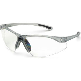 Elvex® RX-200™ Bi-Focal Safety Glasses, 1.5 Diopter, Clear HC/PC Lens, Gray Frame, 12/Pack