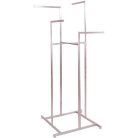 4-Way Rack with Straight Arms - Satin Nickel