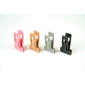 """Econoco, Plastic Clips For Hanger Ends, HSLCLIPB, 2-3/4""""L x 1-13/16""""W x 7/8""""H, Black - Pkg Qty 100"""