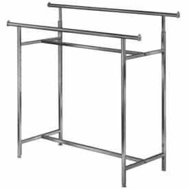 Adjustable Double Rail Clothes Rack (K40)- Chrome