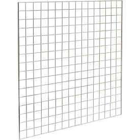 4'W X 4'H - Grid Panel - Chrome - Pkg Qty 3