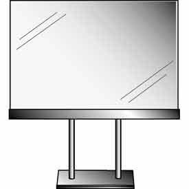"11""W X 7""H Acrylic Sign Holder W/ Base (4"" Stems) - Chrome Clear - Pkg Qty 24"