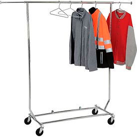 Salesman's Collapsible Portable Clothing Rack RCS/1 - Round Tubing - Chrome