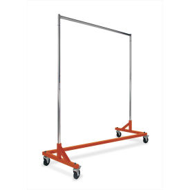 "Z-Rack With OSHA Orange Base, RZK8RNG, 64""L x 24""W x 70""H, Black With Orange Base"