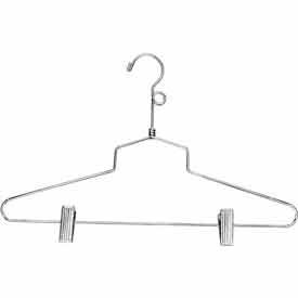 "16"" Steel Combination Hanger W/ Vinyl Cushion Clips And Loop Hook Chrome Pkg Count... by"