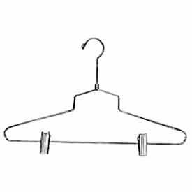 "16"" Steel Combination Hanger W/ Vinyl Cushion Clips And Regular Hook Chrome Pkg Count... by"