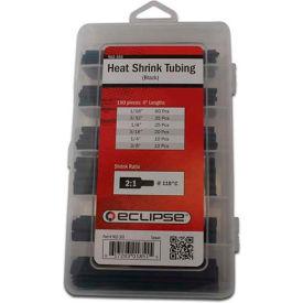 """Eclipse Tools 902-355 Heat Shrink Tubing, 4""""L, Black, 160 Pcs"""