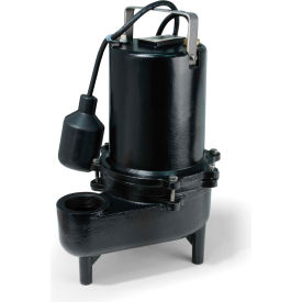 Eco-Flo ESE50W Submersible Sewage Pump, Cast Iron, 1/2 HP
