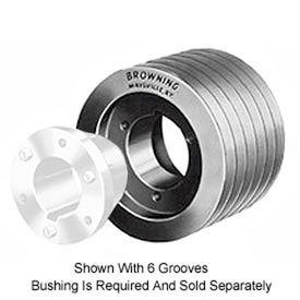 Browning Cast Iron, 6 Groove, Split Taper C&D Sheave, 6TC102