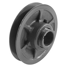 """Single-Groove Variable Pitch Sheave, 1/2"""" Bore, 5.35"""" O. D., 1VP56X1/2"""