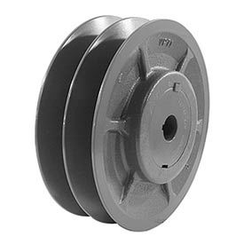 """Double-Groove Variable Pitch Sheave, 3/4"""" Bore, 3.95"""" O. D., 2VP42X3/4"""