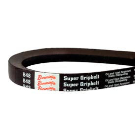 V-Belt, 21/32 X 131 In., B128, Wrapped