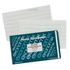 """Ekonomik Check Register Book, 18 Columns, 14-3/4"""" x 8-3/4"""", White, 1 Each by"""