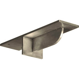 "Ekena Heaton Support Bracket BKTM03X10X02HESS, 3""W x 10""D x 2""H W/6"" Support Depth, Stainless Steel"